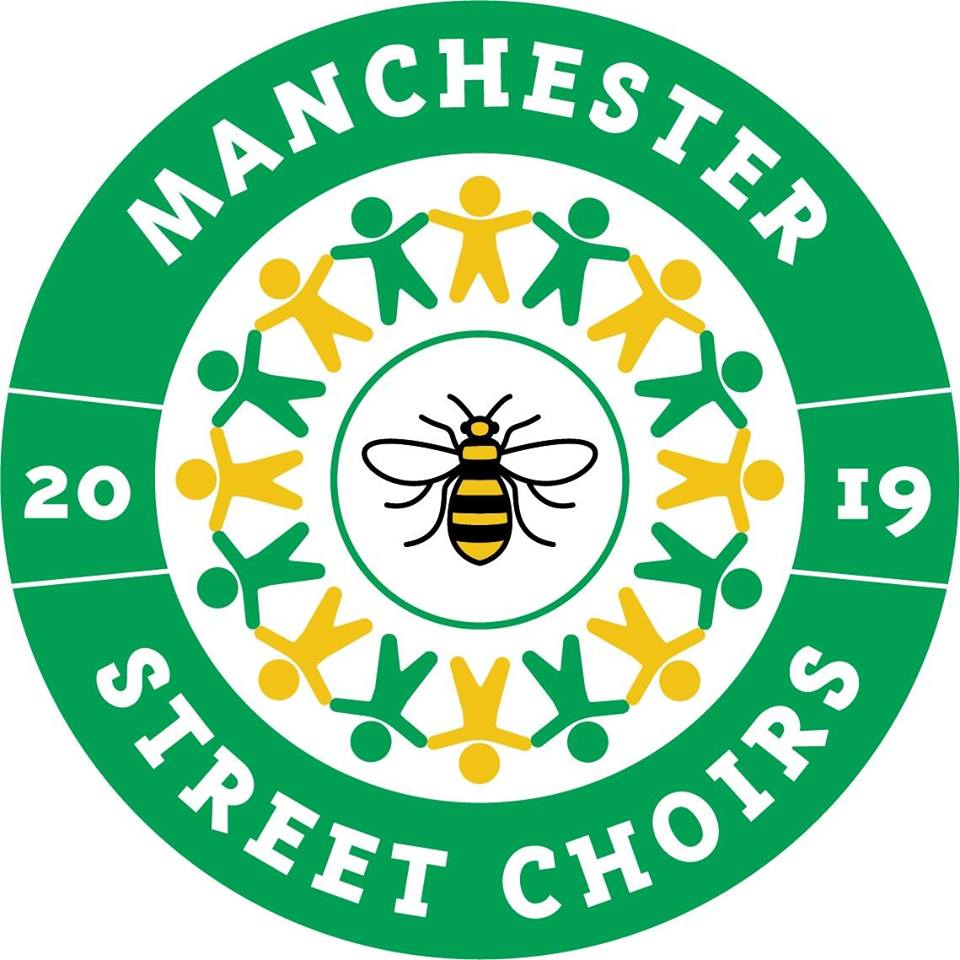 Logo of the Street Choirs Festival 2019 in Manchester.